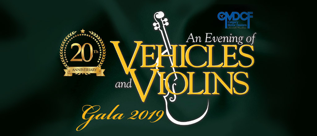 Vehicles and Violins Gala 2019 header Graphic